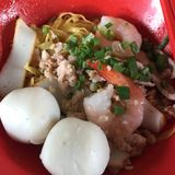 Fishball Noodle Stock Photo
