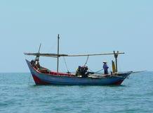 fishboat爪哇 免版税库存图片