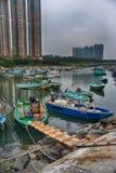 Fishboat Гонконга sampan Стоковые Изображения RF