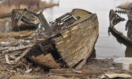 Fishboat击毁 库存照片