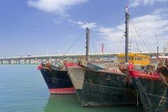 木fishboat 库存照片