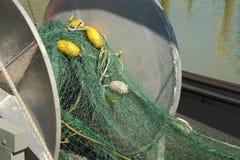 Fishboat Gillnet sieć i bęben Fotografia Stock