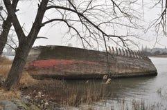 Fishboat wrak Fotografia Royalty Free
