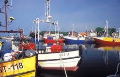 Fishboats в гавани Стоковые Изображения