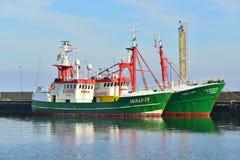 2 fishboats в гавани Стоковые Изображения RF