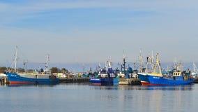 Fishboats в гавани Стоковые Изображения RF