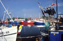 Fishboats in harbour Royalty Free Stock Photography