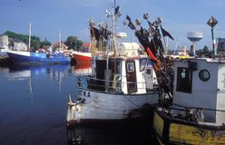 Fishboats in harbour Royalty Free Stock Photos