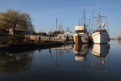 Fishboats, Ladner, British Columbia Royalty Free Stock Photography