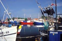 Fishboats no porto Fotografia de Stock Royalty Free