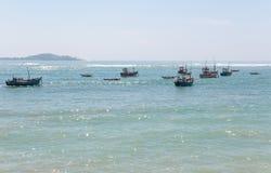 Fishboats på Indiska oceanen Arkivfoton