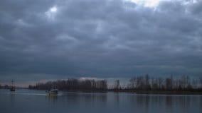 Fishboats, Steveston Harbor Dawn 4K. UHD stock footage