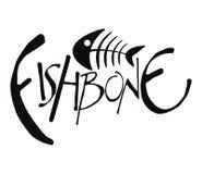 Fishbone. Moonochromatic Fishbone Set 1 Vector Drawing Stock Image