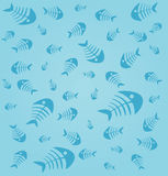 Fishbone Backround. Set 1 Vector Drawing Royalty Free Illustration