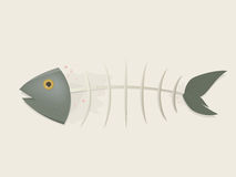 Fishbone comic clipart Royalty Free Stock Photography