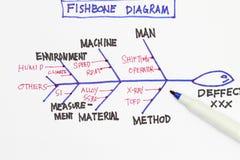 Fishbone diagram Royalty Free Stock Photos