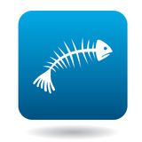 Fishbone icon in simple style. On a white background Stock Image