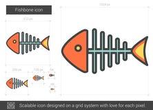 Fishbone line icon. Stock Photography