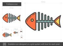 Fishbone line icon. Royalty Free Stock Photography