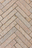 Fishbone Paving Pattern Stock Photos