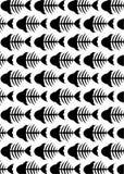Fishbone Skeleton Pattern Royalty Free Stock Photos