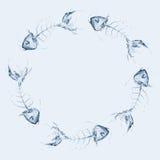 Fishbone van het water Cirkel Royalty-vrije Illustratie