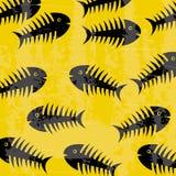 Fishbones. Design over yellow background vector illustration Royalty Free Stock Photo