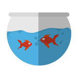 Fishbowl cartoon icon. Over white background. colorful design. vector illustration Royalty Free Stock Photo