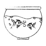 Fishbowl cartoon icon. Over white background. vector illustration Royalty Free Stock Photography