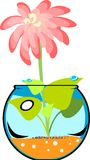 Fishbowl with flower Stock Photography