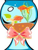 Fishbowl with goldfish Stock Photo