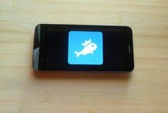 Fishbrain app royalty-vrije stock foto's
