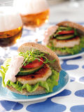 Fishburger stockfoto