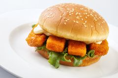 Fishburger Royalty Free Stock Photos