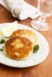 fishcakes Fotografia de Stock