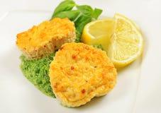 Fishcakes with lemon Stock Image