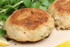 Fishcakes saumoné photos libres de droits