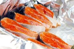 fishe φρέσκες μπριζόλες Στοκ φωτογραφία με δικαίωμα ελεύθερης χρήσης
