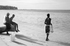 Fisher人多米尼加共和国 库存照片