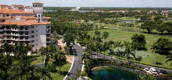 Fisher ö, Miami, Florida, USA Arkivfoto
