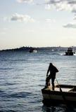 Fisher в Стамбуле Стоковые Фото