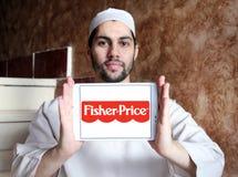 Fisher-цена забавляется логотип изготовителя стоковые изображения