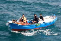 fisher шлюпки Стоковое Изображение