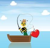 Fisher蜂 免版税库存照片