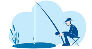fisher Ilustração do Vetor