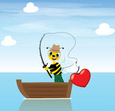 Fisher Bee Royalty Free Stock Photo