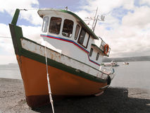 Fisher boat moored Royalty Free Stock Image