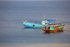 Fisher boat in the sea Stock Image