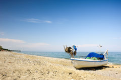 Fisher boats at the beach Royalty Free Stock Photography