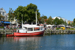 Fisher boats in harbor of Warnemuende Royalty Free Stock Photography